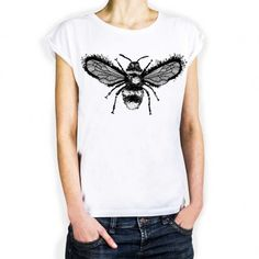 Koszulka Damska Pszczoła  - Malinowe Cacko
