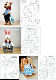 Bunny patterns for softies