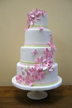 Color Change to Purple: Butterfly Wedding Cakes | Butterfly Wedding Cake | Butterfly wedding theme