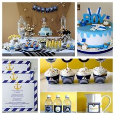 Nautical baby shower theme- love love this theme for a boy!
