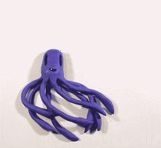 catghostempire animation blink stop motion octopus GIF Clay Animation, Animation Stop Motion, Animation Storyboard, Animation Tutorial, Animation Reference, Vector Animation, Stop Motion Software, Animated Cartoons, Animated Gif