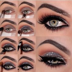 Steps for the gilded smokey eye posted a few days ago by the beautiful @maya_mia