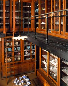 Even McDoth would be impressed by this pantry. | Two floors worth of china and crystal! Photo courtesy of The Biltmore Estate.
