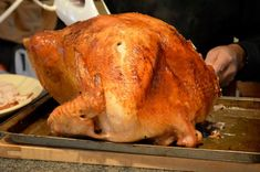 Alton Brown's brined turkey--brining makes the turkey SO moist Thanksgiving Turkey, Thanksgiving Recipes, Holiday Recipes, Alton Brown Turkey Brine, Good Eats Alton Brown, Food Network Recipes, Cooking Recipes, Roast Turkey Recipes, Brown Recipe