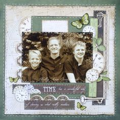 A Layout by Kelly-ann Oosterbeek made using the Mademoiselle Collection from… Scrapbook Layout Sketches, Scrapbooking Layouts, Heritage Scrapbook Pages, Baby Scrapbook, Projects To Try, Card Making, Paper Crafts, Mixed Media, Cards