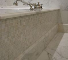 small mosaic tiles always feel luxurious