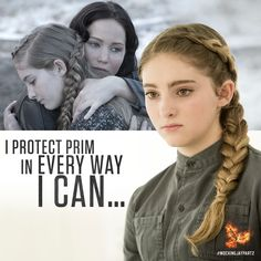 Katniss does everything in her power to keep her sister from harm… #MockingjayPart2