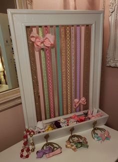 hair bow holder & hair bow holder _ hair bow holder diy _ hair bow holder diy how to make _ hair bow holder ideas _ hair bow holder diy ideas _ hair bow holder frame _ hair bow holder diy picture frames _ hair bow holder diy display Diy Bow, Diy Hair Bows, Diy Hair Bow Holder, Bow Holders, Bow Display, Bow Hanger, Organizing Hair Accessories, Gift Bows, Diy Gifts