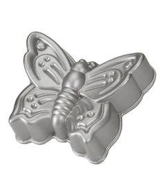Look at this #zulilyfind! Platinum Nonstick Butterfly Cake Pan by Nordic Ware #zulilyfinds
