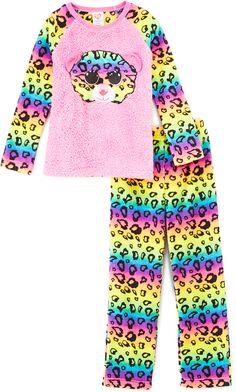 Beanie Boos Rainbow Dotty Pajama Set - Girls #beanieboo#kids#ad