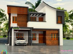 Red cottage house plans awesome house design plans with s wi Duplex House Design, Simple House Design, House Front Design, Roof Design, Cool House Designs, Modern House Design, Wall Design, Cottage House Plans, Cottage Homes