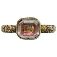 17th Century Stuart Crystal and Gold Ring