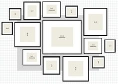 this post explains how to set up a wall gallery/ collage by an actual person using ikea frames by judith