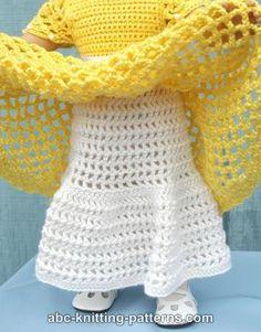 free crochet patterns for american girl doll clothes Crochet Doll Dress, Crochet Doll Clothes, Crochet Doll Pattern, Doll Clothes Patterns, Crochet Outfits, Barbie Patterns, American Girl Outfits, American Doll Clothes, American Girls