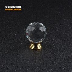 1PCS 30mm Crystal Ball Drawer Knobs Transparent Crystal Handle With Gold-plated Zinc Base Chrome Finish For Furniture YZ-3001 - ICON2 Luxury Designer Fixures  1PCS #30mm #Crystal #Ball #Drawer #Knobs #Transparent #Crystal #Handle #With #Gold-plated #Zinc #Base #Chrome #Finish #For #Furniture #YZ-3001