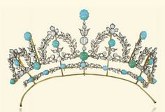 A diamond and turquoise tiara from 1890.
