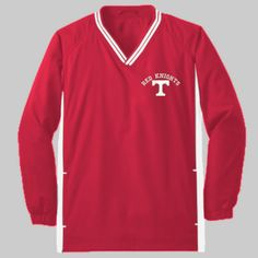 Toronto Logo Embroidery  - Youth Tipped V Neck Raglan Wind Shirt