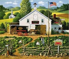 Charles Wysocki Special Edition Prints | Charles Wysocki-Catchin Bugs. Limited Edition Print (Paper)