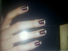 Gold and deep red for manicure