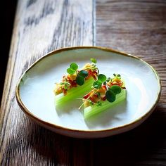 Recipe by  EvgenyNasyrov | Celery, mustard sauce, pine nuts, bacon and daikon. | Cookniche, linking the culinary world