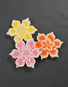 Brush Embroidery Flower Cookies ~ cookiedecorating.wordpress.com