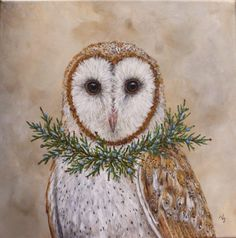 Owl Art, Bird Art, Watercolor Projects, Watercolor Art, Woodland Creatures, Whimsical Art, Christmas Art, Beautiful Birds, Animal Drawings