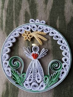 Vianočná dekorácia - Anjel s kométou / evaline - SAShE. Paper Quilling Tutorial, Paper Quilling Patterns, Quilled Paper Art, Quilling Paper Craft, Paper Flowers Craft, Easy Paper Crafts, Flower Crafts, Origami Christmas Ornament, Quilling Christmas