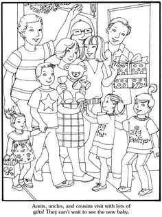 Our New Baby Coloring Book, Dover Publications. Page 6/6