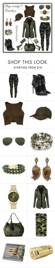 """Exoduss"" by exoduss ❤ liked on Polyvore featuring Balmain, Ray-Ban, New Directions, Henry London, LE3NO, Moda Luxe, Casetify, Cartier, Smith & Wesson and Ghidini 1961"