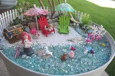 Items similar to Miniature Beach Kit( DIY Fairy Garden Beach Starfish Flamingos Seahorses Seashells Pearls Bubbles on Etsy Fairy Garden Cake, Beach Fairy Garden, Garden Cakes, Miniature Fairy Gardens, Sea Shells, Garden Design, Creative, Pale Pink, Pink Purple