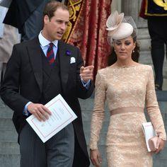 Kate Middleton Wears Nude Lace Alexander McQueen Sheath for Diamond Jubilee Finale