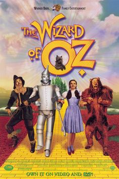 The Wizard of Oz. This is the first movie I ever fell in love with. To this day, if I turn on the tube and find it playing I will drop everything and watch it. <3