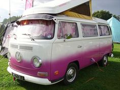 ombre vw van   VW bus beautiful paint job