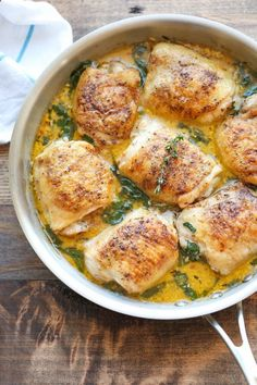 Lemon Butter Chicken - Easy crisp-tender chicken with the creamiest lemon butter sauce ever - youll want to forget the chicken and drink the sauce instead!