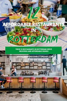 Do you want to go out for dinner in Rotterdam, but are you on a budget? In this article we share delicious and affordable restaurants in Rotterdam! European Destination, European Travel, Best Places To Eat, Cool Places To Visit, Europe Travel Tips, Travel Destinations, Amazing Destinations, Superfood Salad, Travel Inspiration