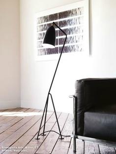 Grasshopper Floor Lamp (1947). Designed by Greta Grossman, produced by Gubi. #GrasshopperFloorLamp #GretaGrossman #Gubi #lighting #moderndesign #dwr