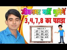 Table Trick 3 4 7 8 पह ड Learn Multiplication Table Fun Learn Video Jaytech Fun Youtube Math Sheets 4 Times Table
