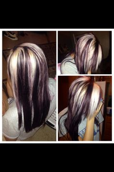 platinum blonde with purple underneath on Olivia Oakes, hair by Rayven Love Brown Hair With Silver Highlights, Brown Blonde Hair, Blonde Highlights, Gray Hair, Purple Hair, Haircut And Color, Hair Color And Cut, Cool Hair Color, Hair Colors