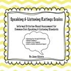 Common Core Speaking  Listening Rating Scales are informal evaluation tools to help determine education impact of speech  language disord...