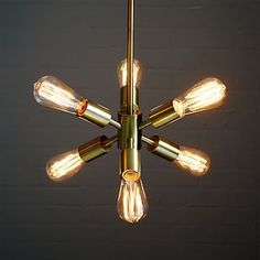 sputnik like brass, bronze, black and silver colors available $179 Mobile Pendant- Small #westelm