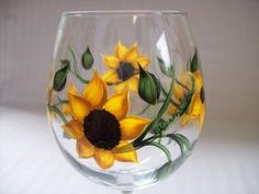 Sunflowers - hand painted beauty