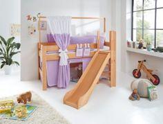 Relita Spielbett Leo, Buche massiv mit Rutsche und Leiter Jetzt bestellen unter: https://moebel.ladendirekt.de/kinderzimmer/betten/hochbetten/?uid=ccec4e84-db21-58ac-8e3e-67398757bc24&utm_source=pinterest&utm_medium=pin&utm_campaign=boards #kinderzimmer #kleinkindmöbel #hochbetten #betten