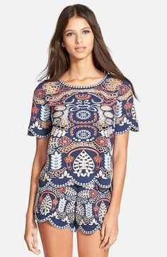J.O.A. Embroidered Woven Top