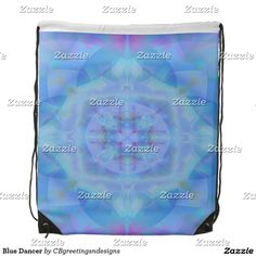 Blue Dancer Drawstring Bag