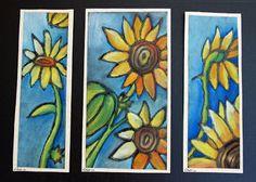 that artist woman: Chalk Pastel Sunflowers