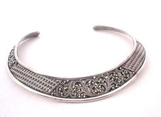 Authentic LOIS Hill Sterling Silver Woven Pierced Collar Necklace