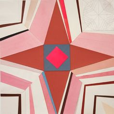 Lena Wolff  Brown Star (Toward Becoming a Compass), 2011  collage with hand-cut and painted papers, watercolor, gouache  21.5 x 21.5 inches