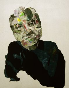 "Saatchi Online Artist: Miseon Yoon; Other, Mixed Media ""Portrait 12-7 _ Bacon"""