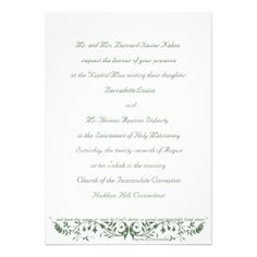 catholic wedding invitation wording Wedding Ideas Pinterest