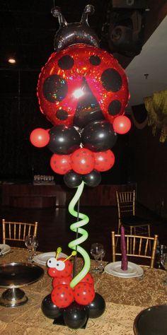 Ladybug 1st birthday centerpiece by www.Total-Party.com